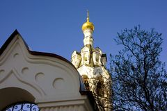 The Church of Elijah the Prophet in Cherkizovo Royalty Free Stock Photography