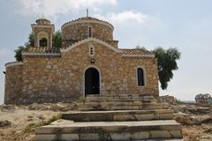 Church of Elijah the Prophet in Cyprus.  Royalty Free Stock Images