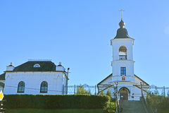 Church of Elijah the Prophet and house of the priest in Vyborg, Russia Stock Photo