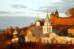 Church of Elijah the Prophet and Kremlin Stock Images