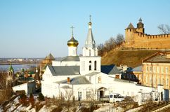 Church of Elijah the Prophet and Kremlin Nizhny Novgorod Russia Stock Photo