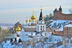 The Church of Elijah the Prophet and the Kremlin. Nizhny Novgorod, Russia Stock Photography