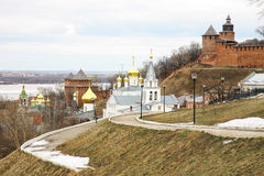 Church of Elijah the Prophet and Kremlin Stock Image