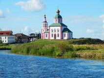 The Church of Elijah the Prophet in Suzdal in Russia. The Church of Elijah the Prophet Ivanova on the mountain or Elias Church — the Church in Suzdal in the Stock Images