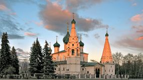 Church of Elijah the Prophet in Yaroslavl. Monument of old architecture Royalty Free Stock Images