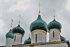 Church of Elijah the Prophet in Yaroslavl Russia. Church of Elijah the Prophet in Yaroslavl Russia famous by its original 17th century frescoes. UNESCO World Royalty Free Stock Image