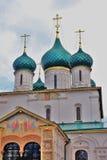 Church of Elijah the Prophet in Yaroslavl Russia. Church of Elijah the Prophet in Yaroslavl Russia famous by its original 17th century frescoes. UNESCO World Stock Image