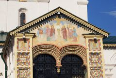 Church of Elijah the Prophet in Yaroslavl (Russia). Icons on facade. Stock Photos