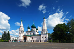 Church of Elijah the Prophet at Yaroslavl in summer Stock Images