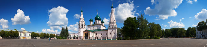 Church of Elijah the Prophet at Yaroslavl in summer Stock Photos