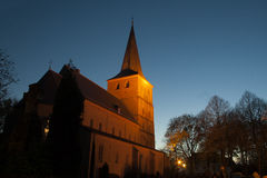 Church in Elten by night Royalty Free Stock Image