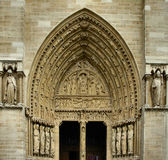 Church entrance. Entrance of a famous church in Paris Stock Images
