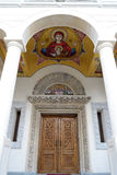 Church Entrance. In A Church In Bucharest Royalty Free Stock Image