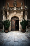 Church entrance in Budapest, Europe. Stock Photos