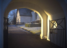 Church entrance gate Royalty Free Stock Images