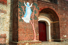 Church entrance, Philippines Stock Photography