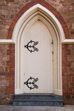 Church entrance portal door christianity style. Detailed church entrance portal door christianity style Stock Photos