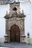 Church entrance, Priego de Cordoba. Stock Images