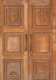Church entrance - wooden doors Stock Image