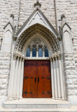 Church Entry Door Stock Images