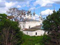 Church of the Entry into Jerusalem in Suzdal, Russia. Church of the Entry into Jerusalem and Friday Church in Suzdal, Russia Stock Image