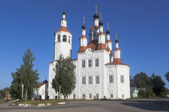 Church of the Entry of the Lord into Jerusalem in the ancient Russian city of Totma Stock Photos