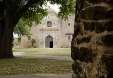 Church entry in mission San Jose, San Antonio.  Royalty Free Stock Photography