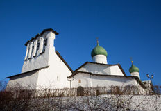 Church of the Epiphany with a bell tower in Pskov Stock Images