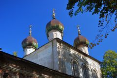 Church of the Epiphany in Kalyazin, Russia. Blue sky background. Built in 1781 Royalty Free Stock Images