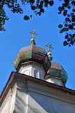 Church of the Epiphany in Kalyazin, Russia. Blue sky background. Built in 1781 Stock Photos