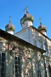 Church of the Epiphany in Kalyazin, Russia. Blue sky background. Built in 1781 Royalty Free Stock Photos