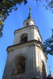 Church of the Epiphany in Kalyazin, Russia. Blue sky background. Built in 1781 Stock Photo