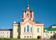 Church of Erection of the Lord`s Honest Cross in the Tikhvin Uspensky monastery. Tikhvin, Russia Stock Photography