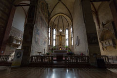 The Church of the Eremitani is an Augustinian church of the 13th century. Padua. Italy Royalty Free Stock Photo