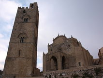 Church in Erice. Near Trapani, Sicily royalty free stock photos