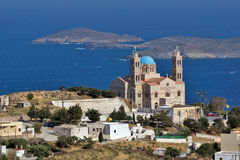 Church in Ermoupoli, Syros Island, Cyclades Islands Royalty Free Stock Photo