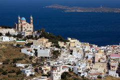 Church in Ermoupoli, Syros Island, Cyclades Islands Stock Image