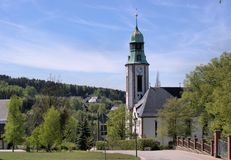 A church in the Erzgebirge in Germany Stock Photography