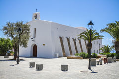 Church in Es Cubells, Ibiza, Spain Stock Photography