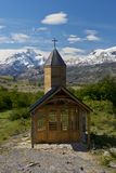 Church of Estancia Cristina in Los Glaciares National Park Stock Photo