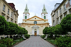 Church of Evangelical Christians-Baptists in Lvov Stock Images