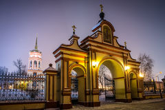 The Church of the exaltation of the Holy Cross in Altufevo. Royalty Free Stock Photography