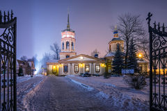 The Church of the exaltation of the Holy Cross in Altufevo. Stock Images
