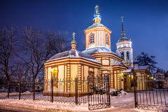 The Church of the exaltation of the Holy Cross in Altufevo. Stock Photography