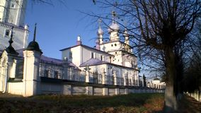 Church of the exaltation of the Holy cross in the village of Palekh. Church of the exaltation of the Holy cross in the village of Palekh, Ivanovo region. Icon stock footage