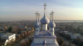 Church of the exaltation of the Holy cross in the village of Palekh. Church of the exaltation of the Holy cross in the village of Palekh, Ivanovo region. Icon stock video footage
