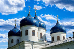 Church of Exhaltation of the Cross, Yuriev Monastery Stock Images