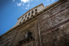 Church exterior in Cagliari, Sardinia Royalty Free Stock Images