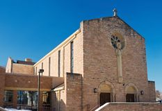 Church Exterior Nave and Narthex in West St. Paul Stock Photos
