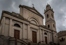 Church exterior in Ozieri, Sardinia stock photos
